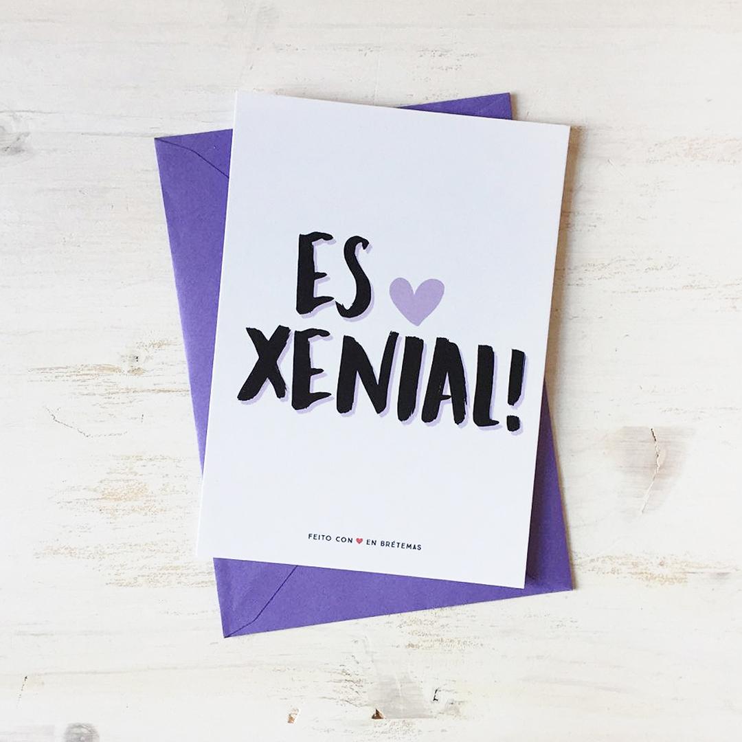 """Postal """"Es Xenial"""" con sobre"""