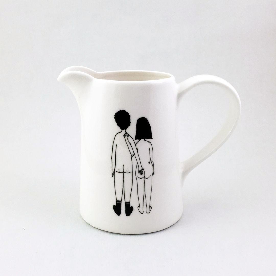Xarrón/leiteira ilustración espidos cu.