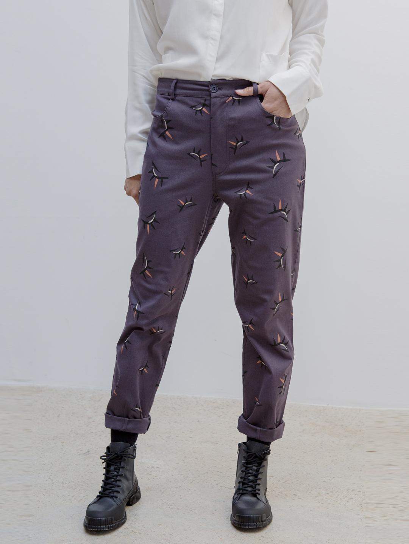 Pantalón longo estampado 4 petos