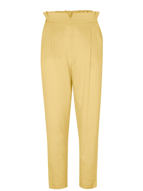 Pantalón cintura alta con goma e petos