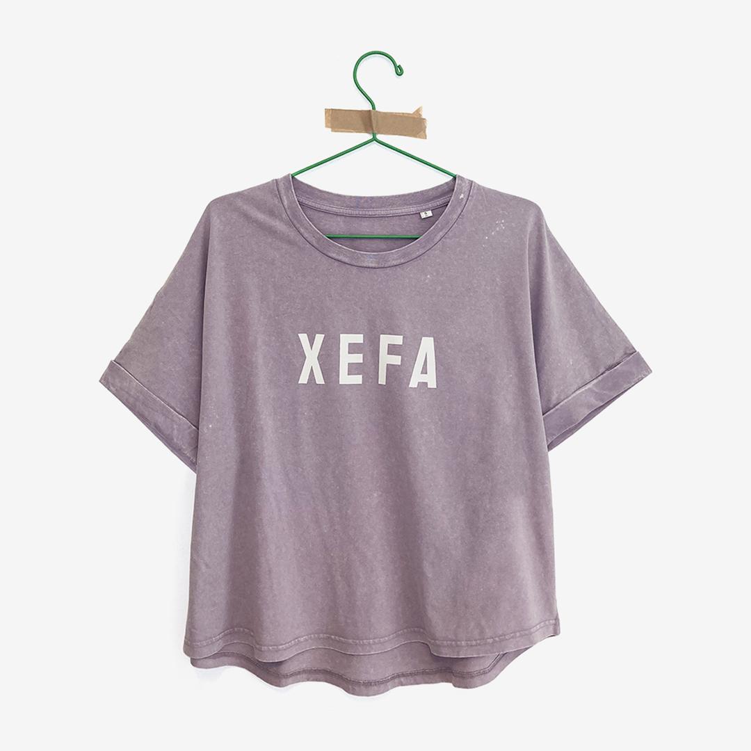 "Camiseta lila ""Xefa"" algodón orgánico"