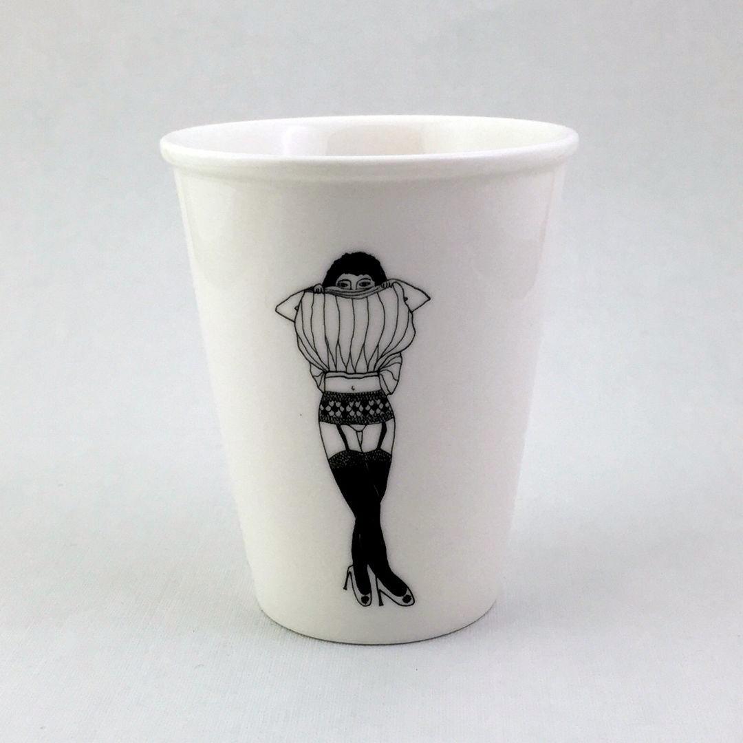 Taza cerámica ilustrada liguero