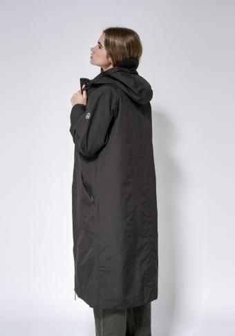 Abrigo impermeable longo petos XL carapucha negro