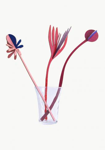 """Flores 3D """"Vals de inverno"""" cartón reciclado."""
