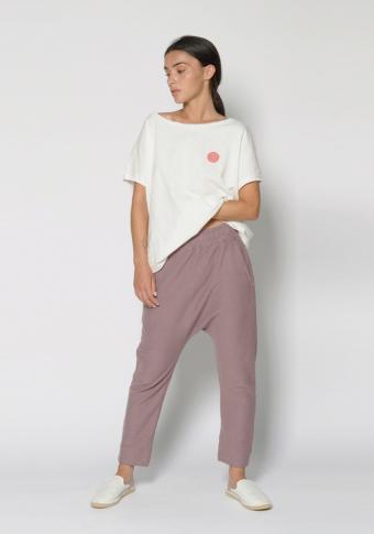 Camiseta  manga curta círculos cores costas