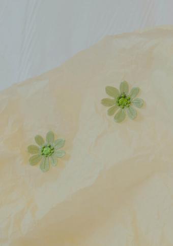 Pendente flor verde 3D