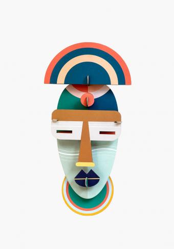 "Máscara 3D reciclada ""Brooklyn"""
