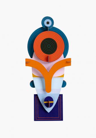 """Máscara 3D reciclada """"Lamu"""""""