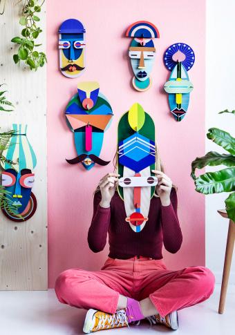 """Máscara 3D reciclada """"London"""""""