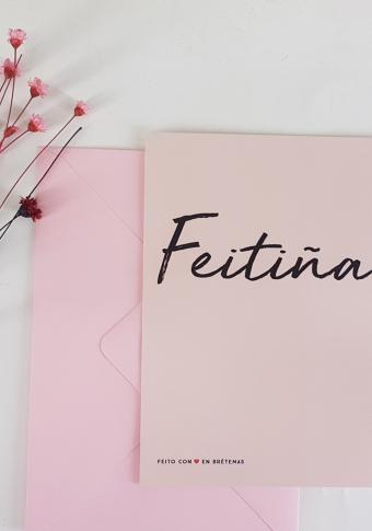 """Postal """"Feitiña"""" con sobre"""
