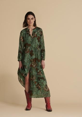 Vestido longo camisero xungla urbana