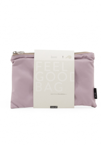 Bolso vegano reversible impermeable rosa/area