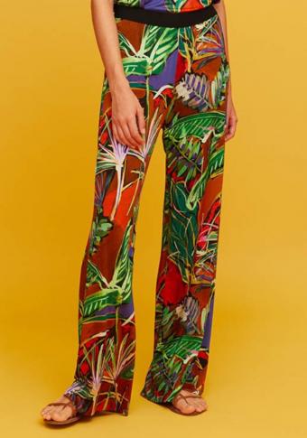 Pantalón goma cintura estampado xungla