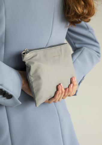 Bolso vegano reversible impermeable gris/azul