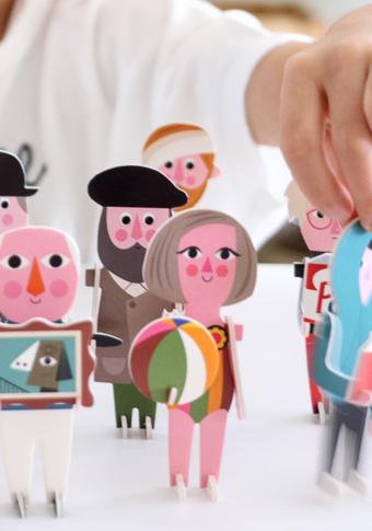Puzzle 3D artistas.