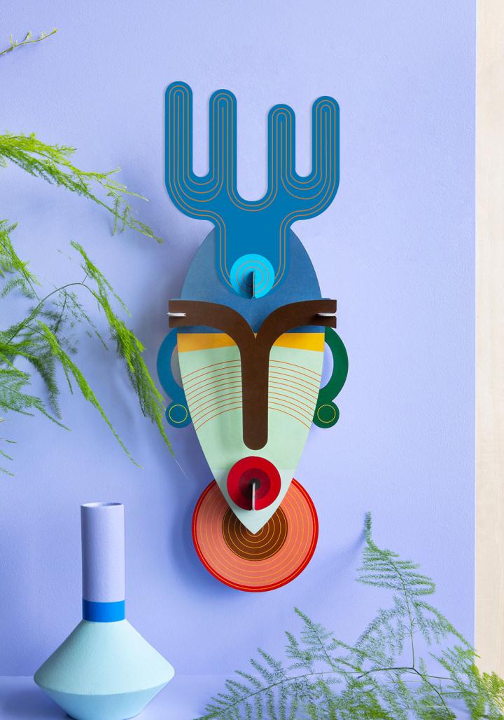 "Máscara 3D reciclada ""Dakar"""