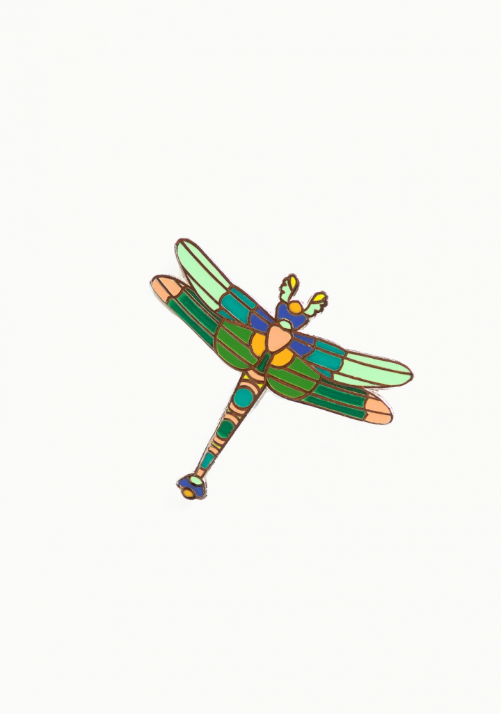 Pin libélula esmalte.