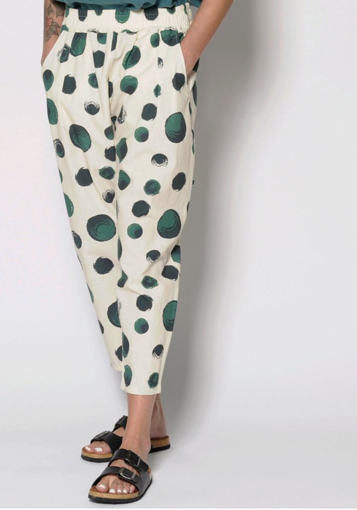 Pantalón topos verde.
