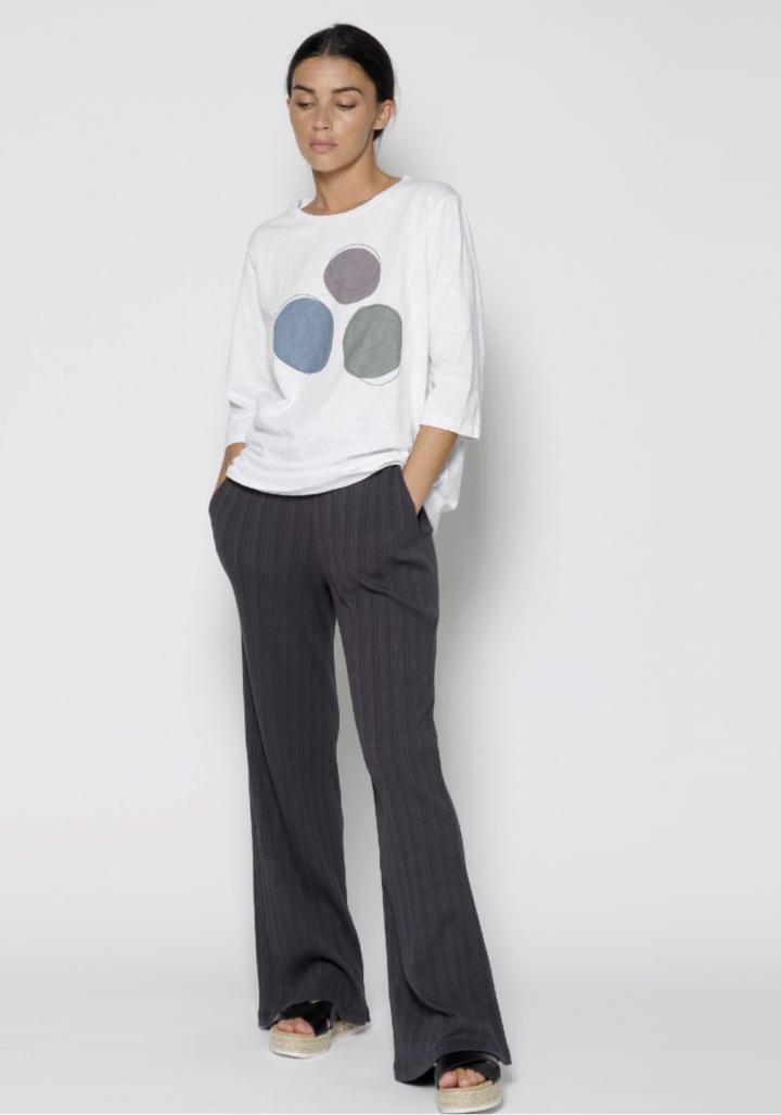Camiseta m/g/3/4 serigrafía esferas cor