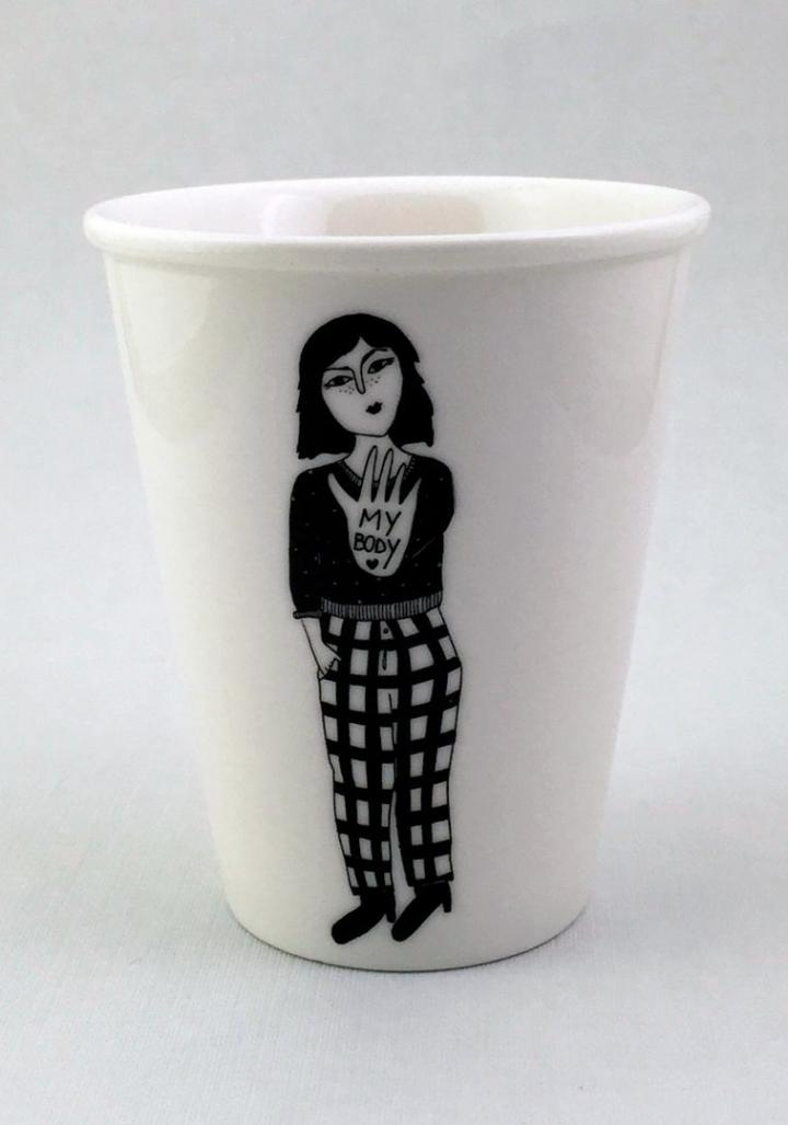 """Taza cerámica ilustrada """"My body"""""""