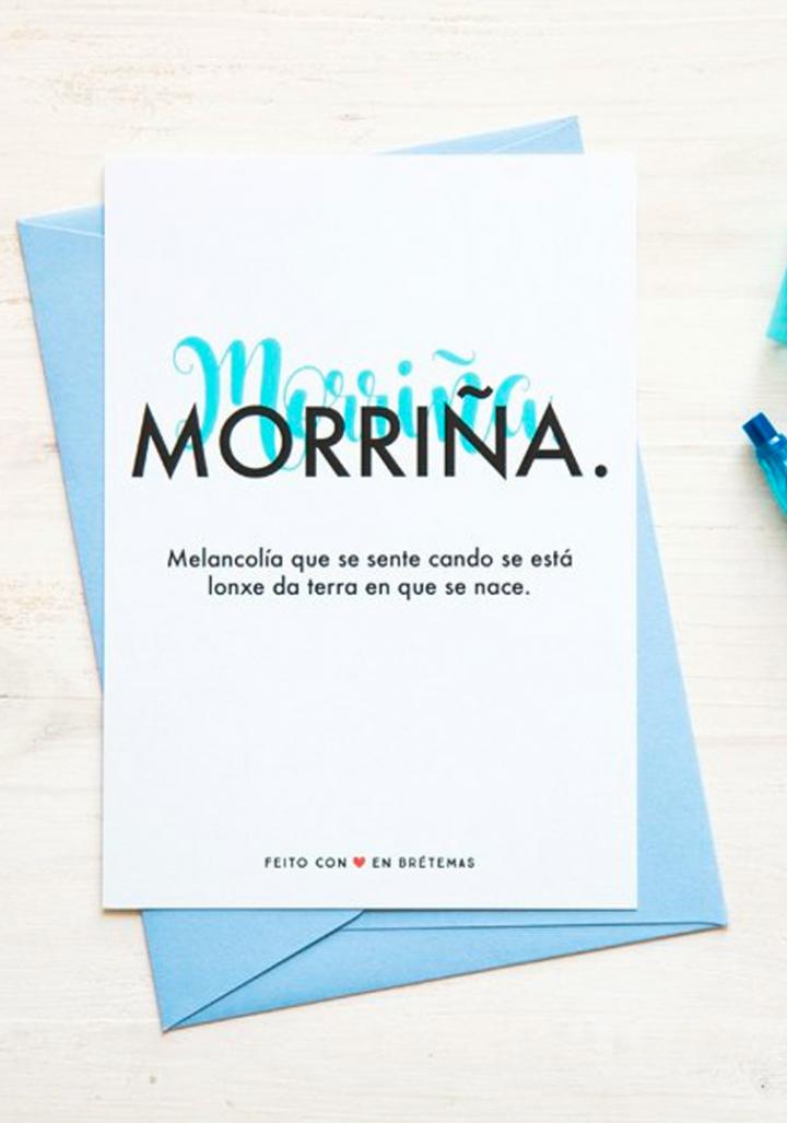 """Postal """"Morriña"""" con sobre"""