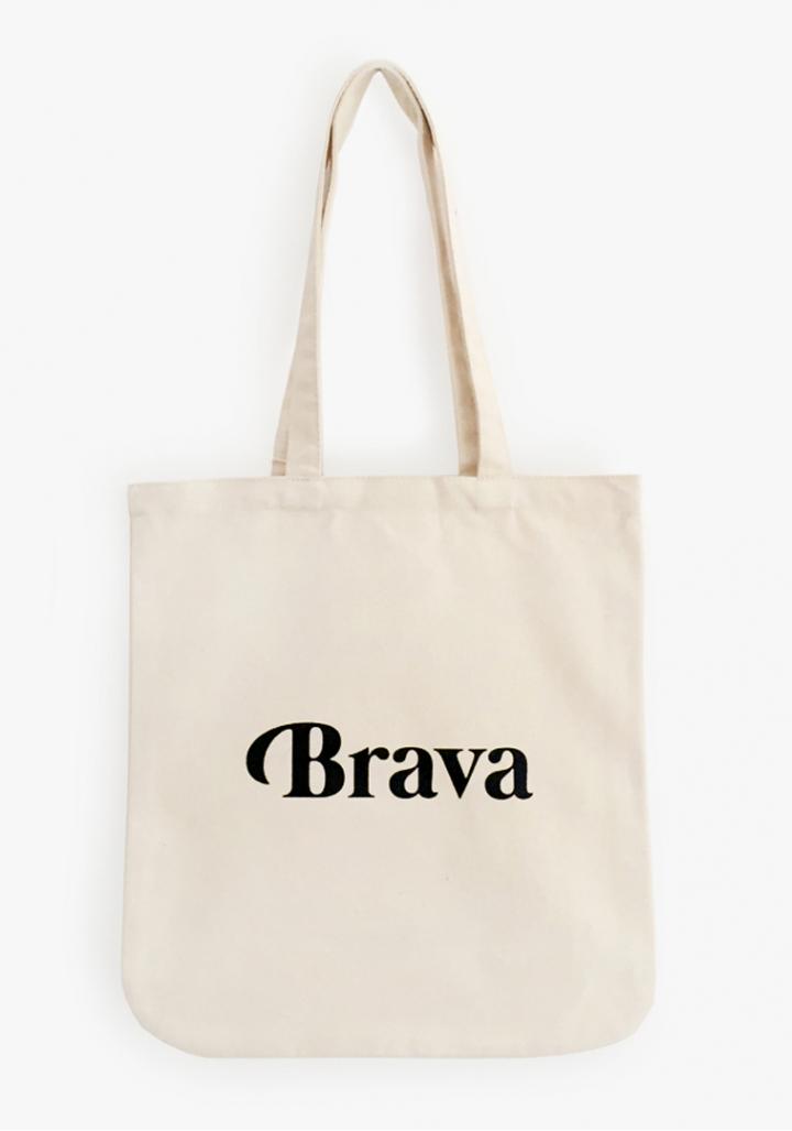 """Saca """"Brava"""" algodón orgánico serigrafía"""