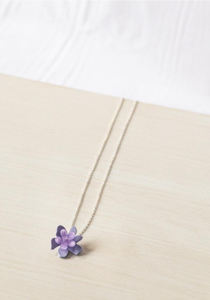 Colgante prata flor lila