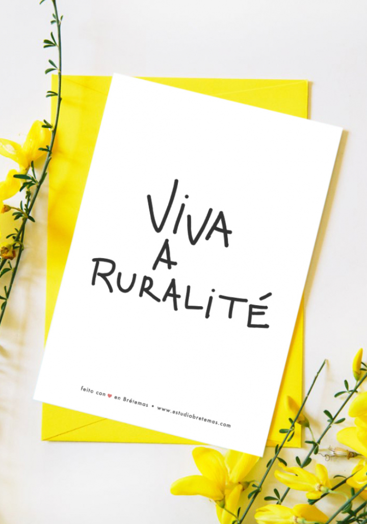 """Postal """"Viva a ruralité"""" con sobre"""